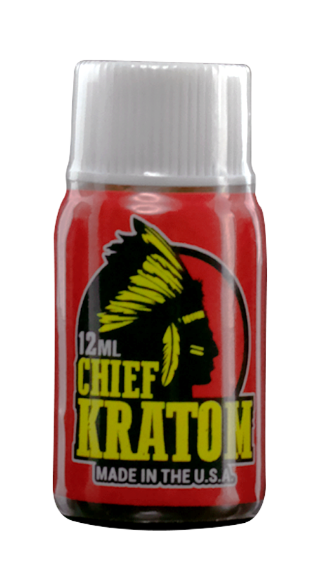Chief Kratom Liquid bottle with transparent background